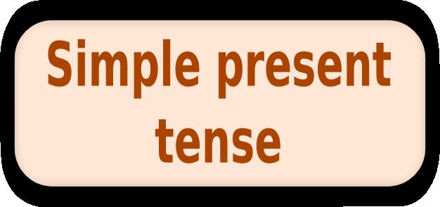 الزمن البسيط في الانجليزية 1