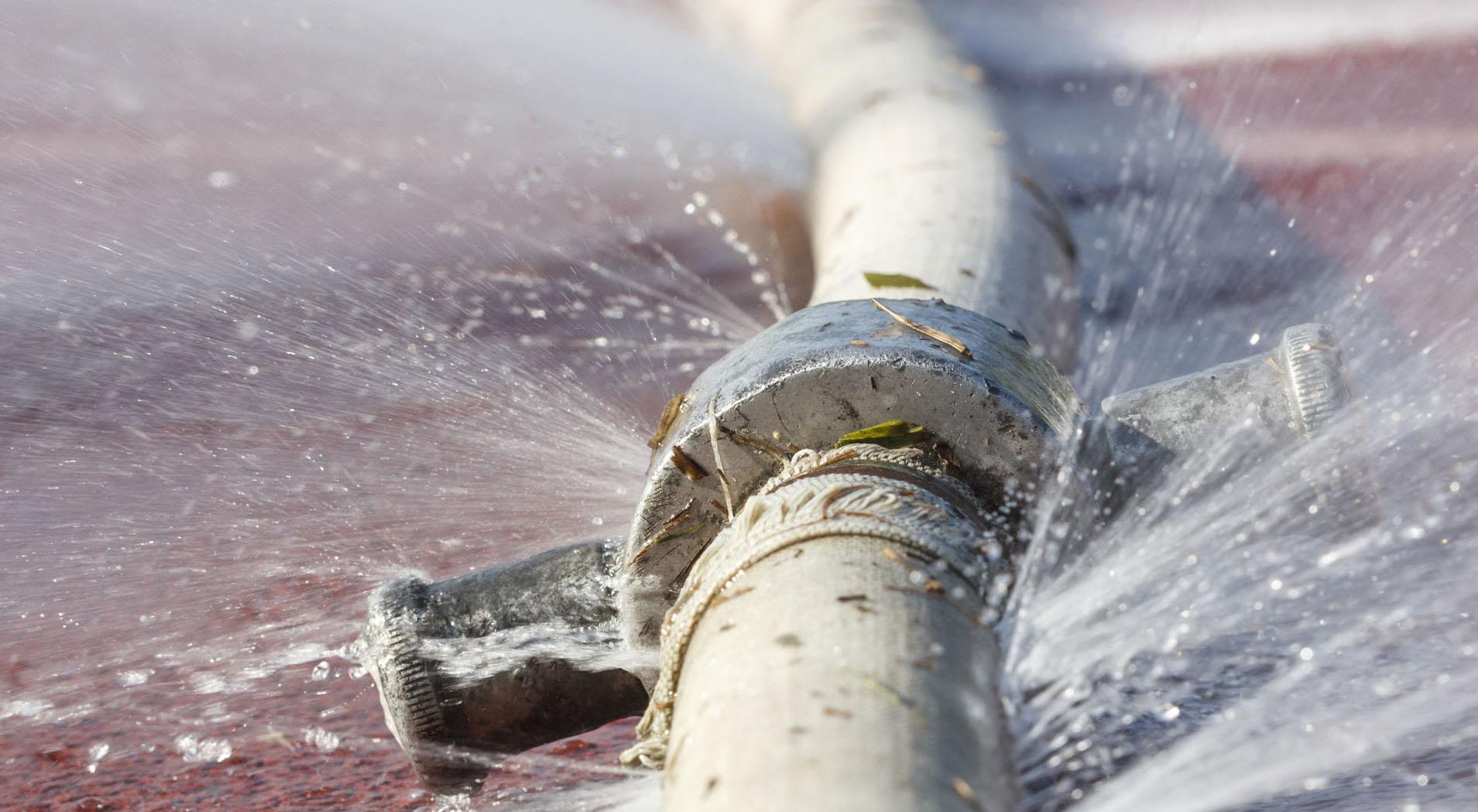 تسريب المياه من المواسير
